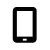 Piktogramm eines Smartphones.