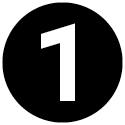 Icon mit der Zahl 1.