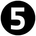 """Icon mit der Zahl """"5""""."""