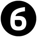 """Icon mit der Zahl """"6""""."""
