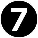 Icon mit der Zahl 7.