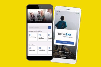 Screenshots der BMW BKK App.